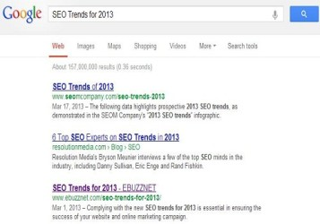 ebuzznet seo trends for 2013