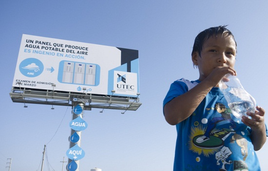 Ebuzznet billboard drinkable water utec