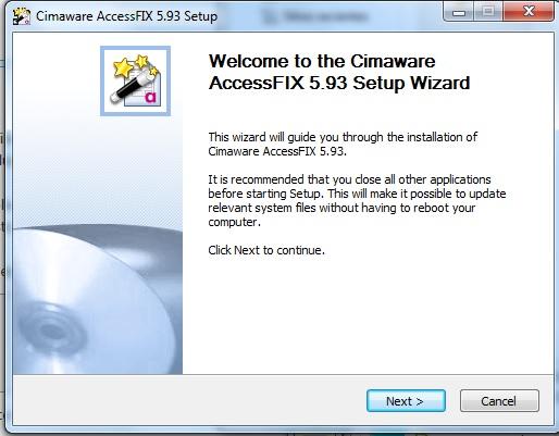 AccessFIX install