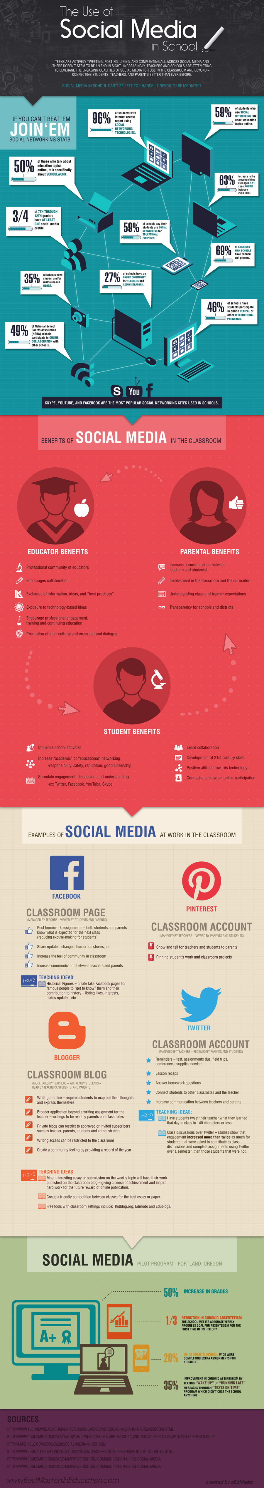 social networking in school infographic