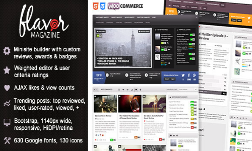 Flavor – ResponsiveHD MagazineReview AJAX Theme