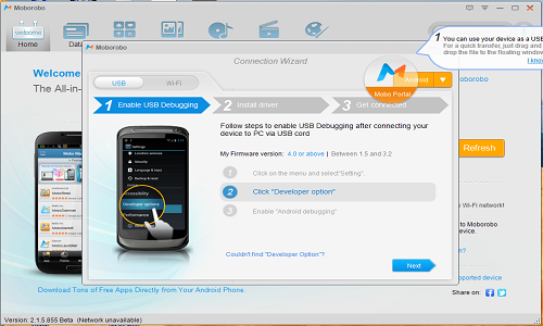 Smartphone Manager Application Comparison Moborobo and Airdroid