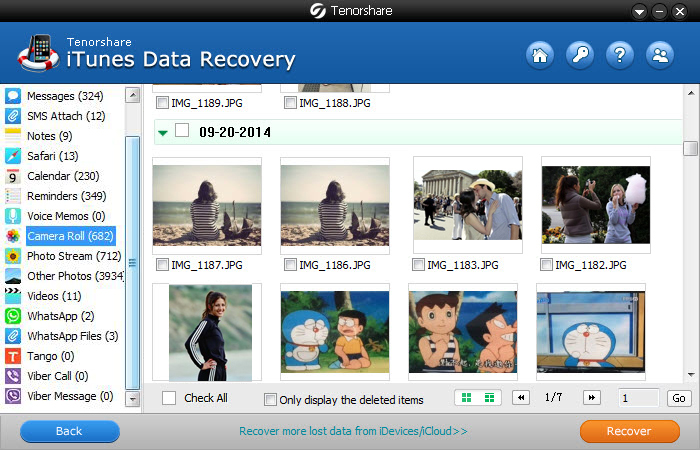 Step 2. Scan and preview backup files