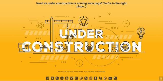 UNDER CONSTRUCTION WORDPRESS PLUGIN REVIEW